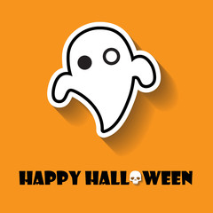 Ghosts halloween icon
