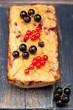 Cake with berries and bananas. Gluten free. Paleo Diet
