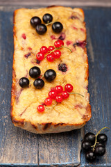Cake with berries and bananas. Gluten free. Paleo Diet