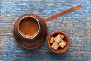 Coffee in coffee pot