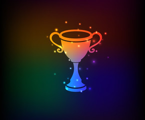 Trophy symbol,Rainbow vector