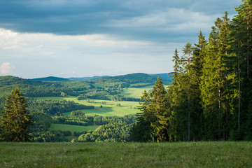 View from a mountain in Lipno - Czech Republic