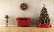 canvas print picture - Elagant room with xmas decoration