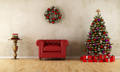 Elagant room with xmas decoration