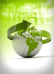 Digital illustration of Business arrow