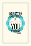 Plakat motywacyjny inspiracji
