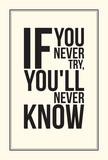 Plakat motywacyjny inspiracji. Czarny i biały