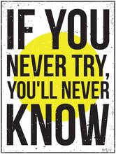 Affiche de motivation de l'inspiration. Grunge