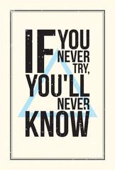 Inspiration motivation poster. Grunge style