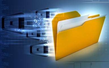 Digital illustration of folder