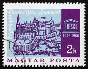 Postage stamp Hungary 1966 Old View of Buda
