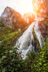 waterfall in the region of Monchique, Portugal.