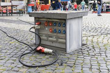Öffentlicher Elektroanschluss