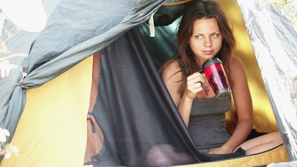Coffee in a tent