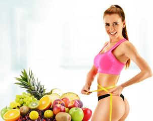 Dieting. Balanced diet based on raw food