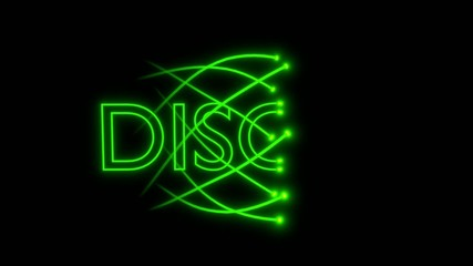 VJ loop - musical neon sign - disco