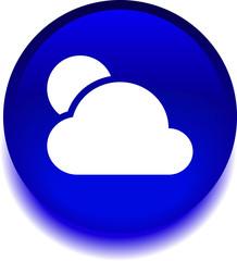 Круглый векторный знак с изображением облака