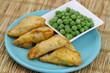 Vegetarian Indian samosas