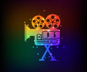 Movie symbol,Rainbow vector