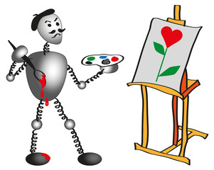 painter and easel