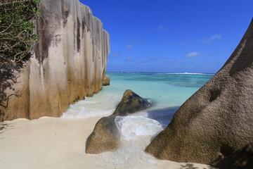 Rochers, Anse source d'argent, Seychelles
