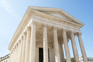 Roman Temple Maison Carree in Nimes