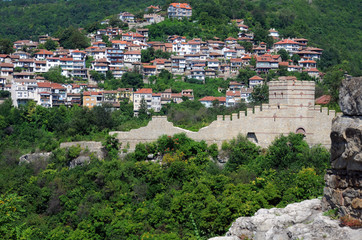 View of Trapezitsa Fortress from Tsarevets