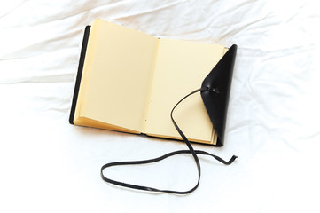 romantic leather blank journal