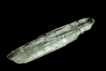 quartz crystal  shard over black