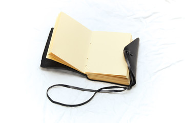 leather bound blank journal