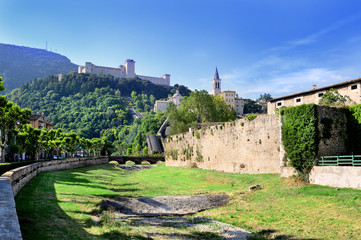 Spoleto, Umbria, vista della Rocca