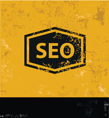 Seo symbol,grunge vector