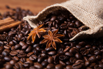 roasted coffee and star anise