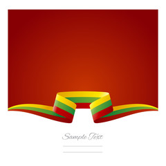 Abstract background Lithuanian flag ribbon