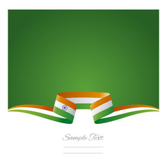 Abstract background Indian flag ribbon