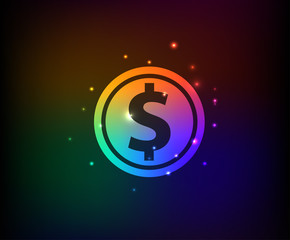 Money symbol,Rainbow vector