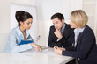 Erfolgreiches Business Team in einem Meeting
