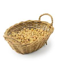 Soybeans in basket