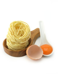 Pasta and eggs