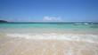綺麗な砂浜に打ち寄せる波