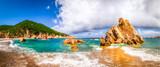 Fototapety Beach scenic panoramic view in Costa Paradiso, Sardinia
