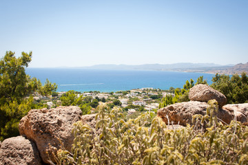 A view of Pefkos, Rhodes, Greece