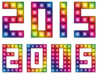 Happy new 2015 year with LED display