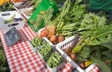 Organic produce at Farmers' Market