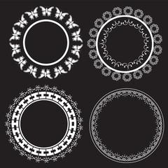 Vintage round frames - Illustration