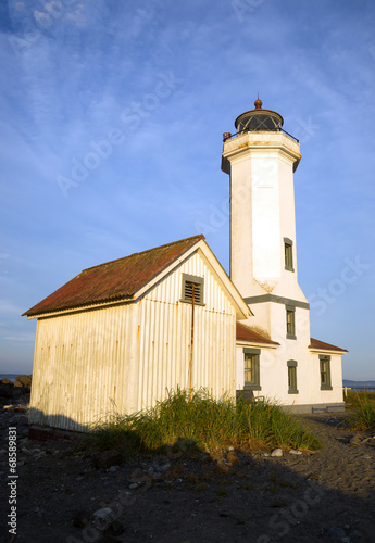 Point Wilson Nautical Lighthouse Puget Sound Fort Worden