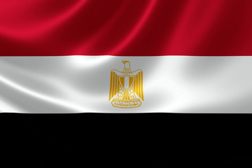 Close Up of the Flag of Egypt