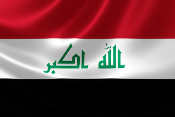 Close Up of the Flag of Iraq