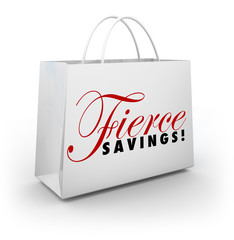Fierce Savings Discount Sale Shopping Bag Buying Spree