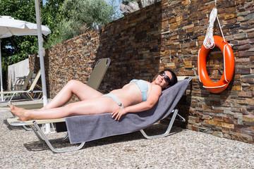Woman suntan